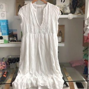 White Cotton Tunic Dress